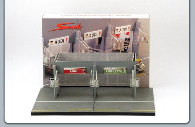 1/43 Diorama le Mans Galleria Set Spark Modelli Audi