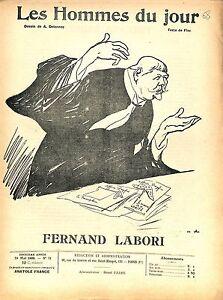 """Fernand Labori AVOCAT DE DREYFUS 1909 JOURNAL HOMMES DU JOUR N°71 - France - DESSIN SATIRIQUE CARICATUREARISTIDE DELANNOY 100 % DÉPOQUE ÉTAT VOIR PHOTO 8 PAGES FORMAT 30 CM X 23 CMSIZE : 11.81 """" X 9.05 """" inch PORT GRATUIT EUROPE A PARTIR DE 4 OBJETSBUY 4 ITEMS AND EUROPE SHIPPING IS FREE HOMME DU JOUR.3bis.68 - France"""