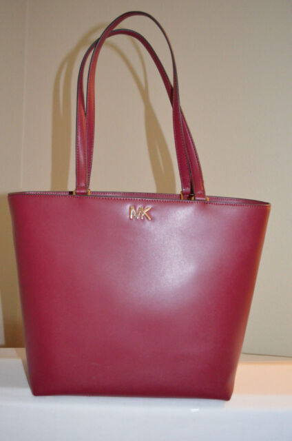 4f0f1592a199 Auth Michael Kors Mott Medium Top Zip Smooth Leather Tote Mulberry ...