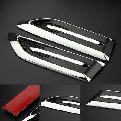 Car Side Air Vent Hole Fender Cover Intake Duct Flow Grille Decoration Sticker