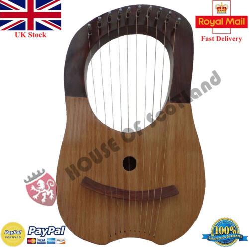 Traditionell Lyra Harfe Zehn Saiten Natürlich 10 Metall Instrumente