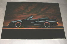 """BLACK PORCHE CONVERTIBLE 1992 SUNSET SKY POSTER BY SCHOLASTIC BOOKS USA  24""""X18"""""""