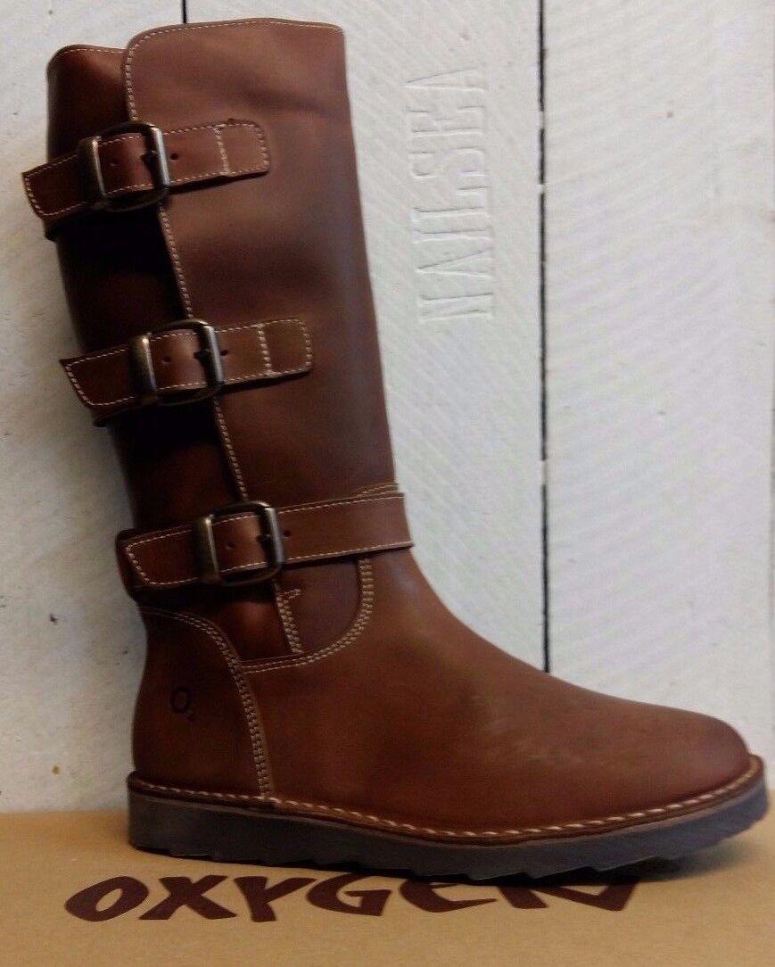 Ladies Oxygen Seine Boots Leather Mid Calf Zip Up Boots Seine f62876