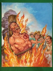 BURNING MAN HORROR GORE GRUESOME NOTA ROJA #11 ORIGINAL MEXICAN ...