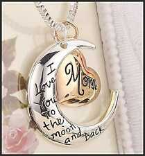 I LOVE YOU to the Moon Collana Ciondolo Medaglione Mamma Madre Regalo Mamma Compleanno cp31