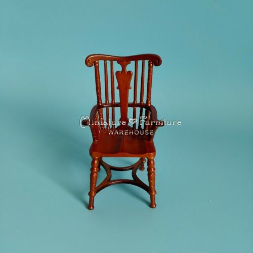 112 Scale Dollhouse Miniature Furniture Handcrafted Windham Armchair Walnut