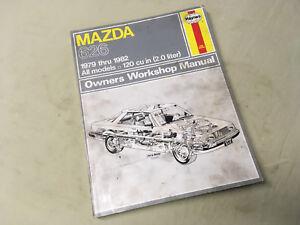 Mazda 626 Repair Service Shop Manual 1979–82 Haynes
