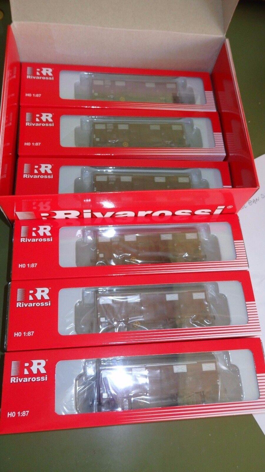 RIVAROSSI HR6224 Set Pansize con 6 vagónes cerrado Gs EUROP FS Italia,red