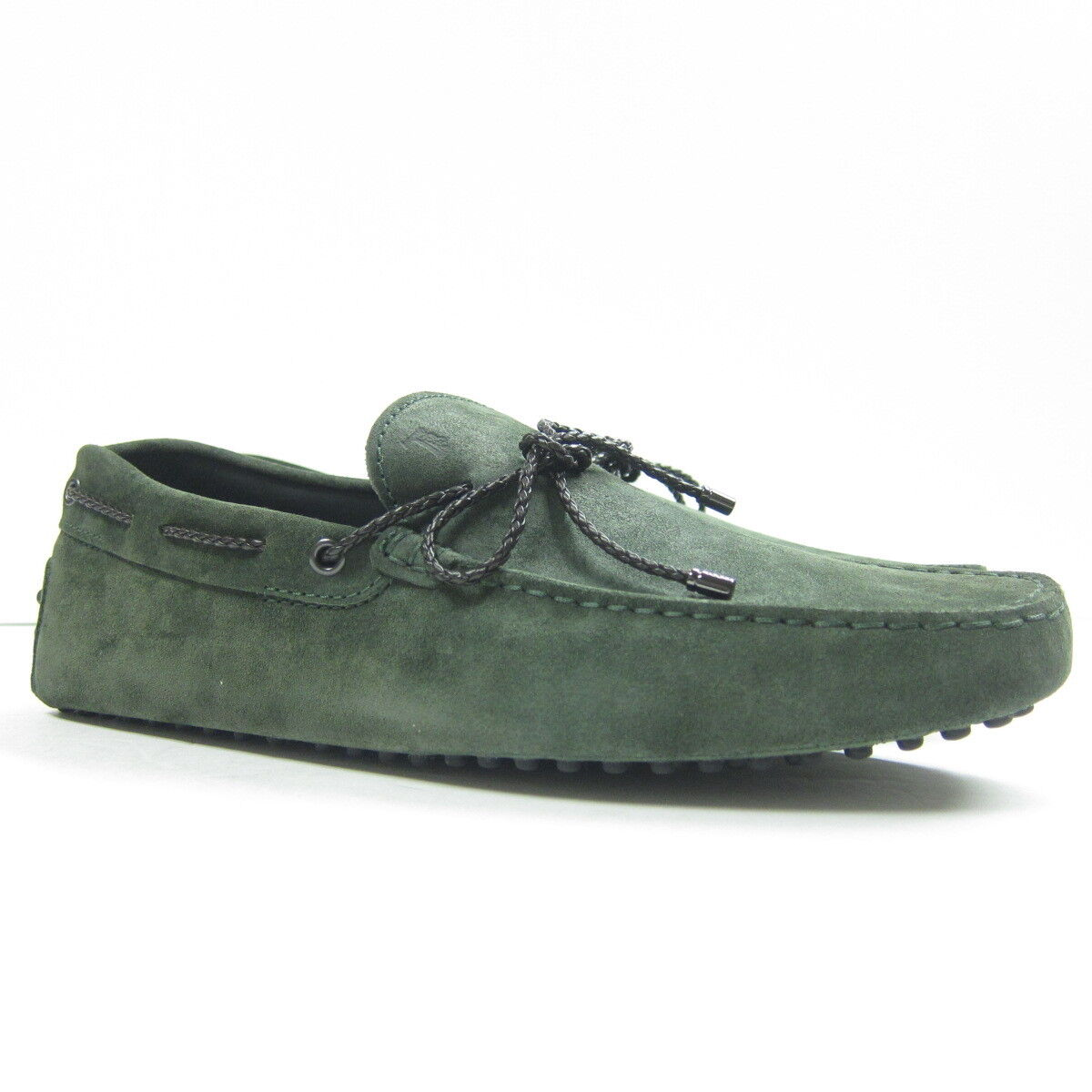P-381167 New Tods Woven Lace Wood Green Driving shoes Size US 10 UK 9