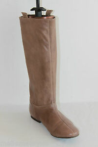 Bottes ANDRE Cuir Souple Marron Taupe Talons Plats T 38 BE   eBay edf36f9dd261