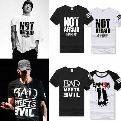 Casual T-shirt Eminem Bad Meets Evil Short sleeve Men Womens Summer Cotton short