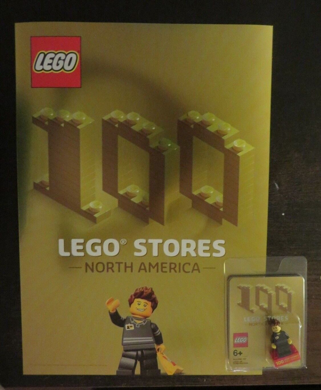 NEW - LEGO Exclusive Minifigure 100 LEGO Stores - North America + Poster - Mint