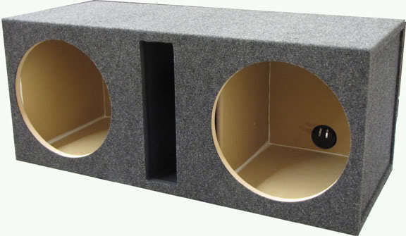 """One 12/"""" inch DUAL SUBWOOFER SUB BOX ENCLOSURE VENTED OBCON"""