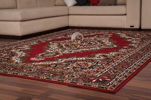 classique-Tapis-d-039-Orient-Persia-Tapis-poil-ras-Tapis-bordures-rouge-80x150