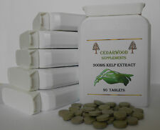Kelp Extract 300mg X 90 VEG:Thyroid function,Rich in Iodine,Hair & Nails:Seaweed