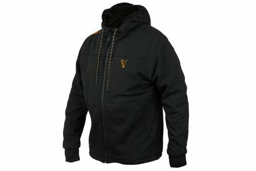 Fox Collection Sherpa Hoody Black//Orange