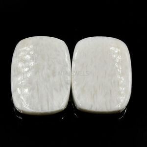 Cts-25-35-Natural-Scolecite-20-X-15-MM-Match-Pair-Cabochon-Cushion-Gemstone