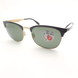 9c8051a347 Ray Ban 3538 187 9A 53 Shiny Black Green Polarized New Sunglasses ...