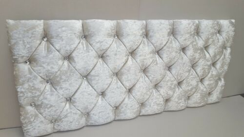 3FT 4FT 4FT6 5FT ., MEMORY FOAM CRUSHED VELVET HEADBOARD for DIVAN  BED