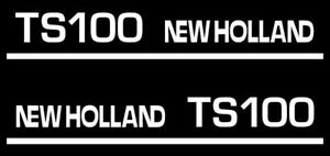 Details about New Holland TS100 tractor decal aufkleber adesivo sticker set
