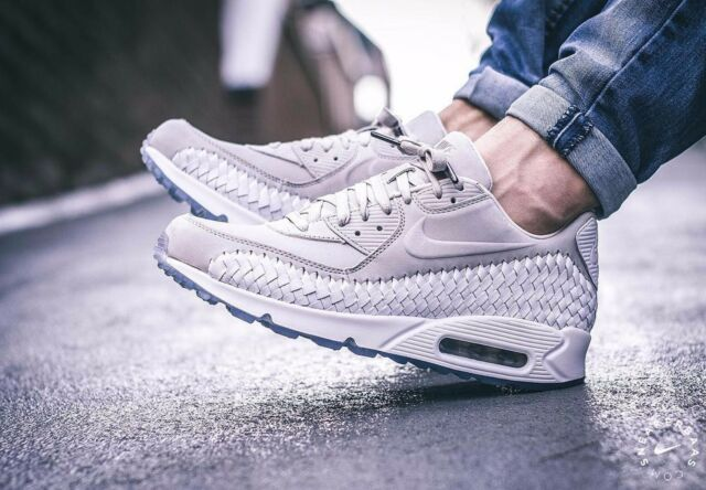 6b9207ad392 Nike Air Max 90 Woven Mens 833129-005 Light Iron Ore Running Shoes ...