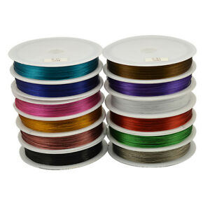 50m-0-38-0-45mm-Stainless-Steel-Tigertail-Wire-Jewellery-Bead-Craft-Art-Thread