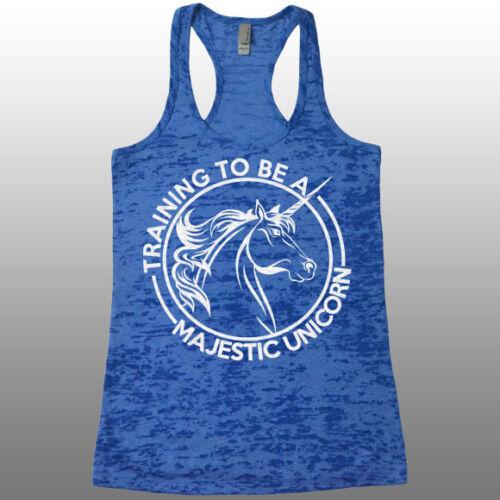 Racerback Burnout Tank Top. Training To Be a Majestic Unicorn Shirt Women