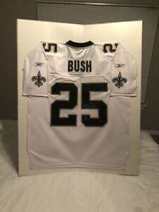 finest selection 47f15 e8bee Details about Reggie Bush #25 Official New Orleans Saints White Reebok  Autographed Jersey