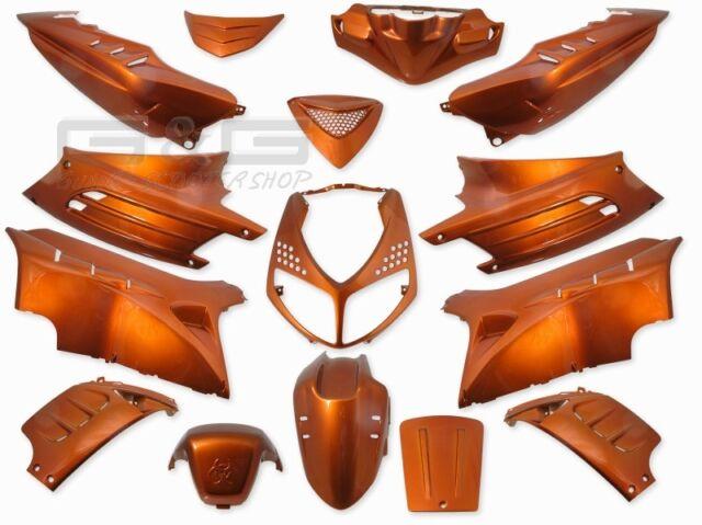 Kit Carénage Capot 15 Parties de Carénage Orange pour Peugeot Speedfight