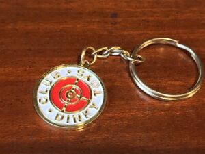 GOLD COLOUR KEYRING BADGE  *** CLUB DINKY TOYS *** NEW RARE METAL