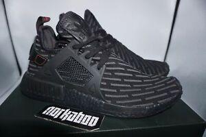 Details about Adidas NMD XR1 PK Primeknit Triple Black Core Red BA7214