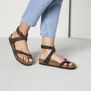 Details about Birkenstock Yara Habana Fat Leather Sandal Size 35 43 Footbed normal show original title