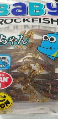 "Lucky John Baby Rockfish 1.4/"" parfum goût real fish Action Leurre Appât 20pcs"