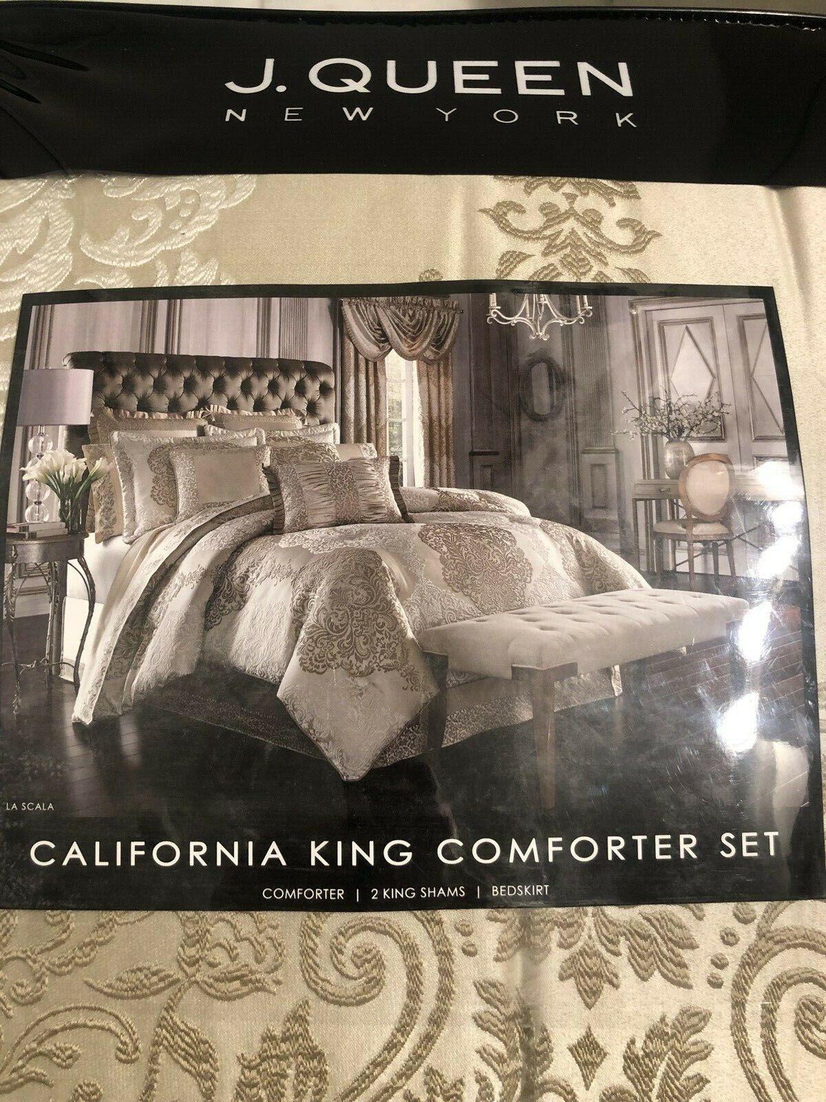J Queen New York La Scala 4 Piece California King Comforter Set
