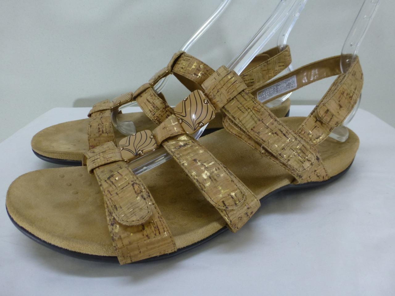 Vionic Orthaheel 44Amber slingback tan cork look Sandals shoes womens sz 11 42