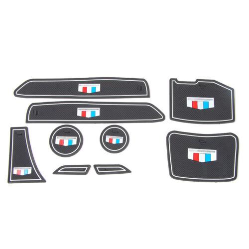 Car Gate Slot Non-slip Cup Pad Door Groove Mat For Chevrolet Camaro Accessories