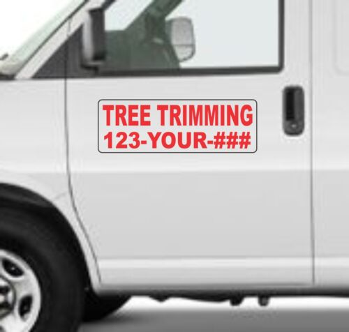 """Custom TREE TRIMMING Magnetic Signs for Car Truck SUV 6/""""x18/"""" Phone or Web site"""