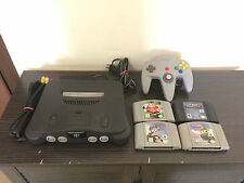 ORIGINAL NINTENDO N64 CONSOLE WITH 4 GAMES