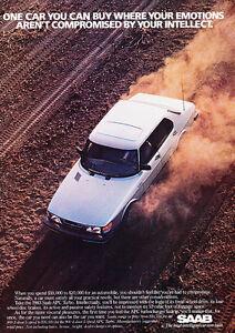 1982 Saab APC Turbo 900 2-sided Classic Advertisement Car Print Ad D01