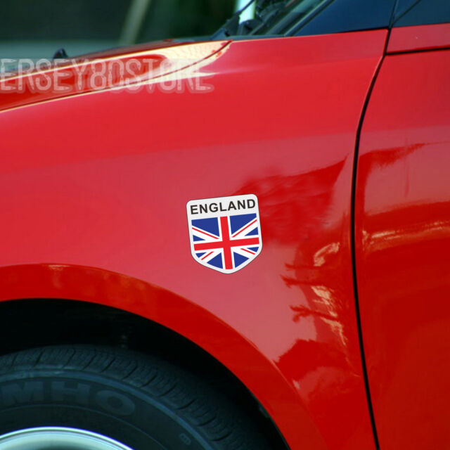 pair Reflective Shield UK British England English Car Decal Sticker 4''