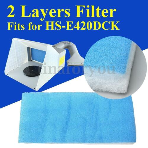 """Replacement Booth Filter for Airbrush Spray Paint HS-E420DCK 2 Layers 16x7x1/"""" ❤"""