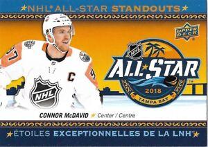 Connor McDavid  AS-1 - 2018-19 Tim Hortons - NHL All-Star Standouts ... 6dfe8ec9b