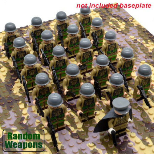 WW2 Classic Military lego Soldiers Building Block Soviet British Japan US Army