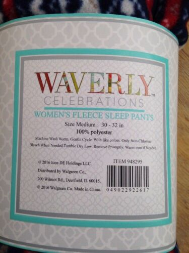 Waverly Celebrations Women/'s Fleece Sleep Pants  Pajama Medium 30-32 in  NWT BB