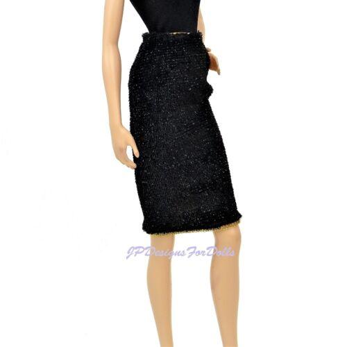 Barbie Fashion Gonna reversibile nero e strisce MIX Em Up Fashions NUOVO