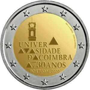 2-euro-commemorative-Universite-de-Coimbra-2020-Portugal-Portogallo-Portugalia
