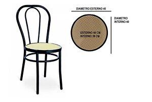 Sedile di ricambio fondello per sedia thonet vienna di colore nero ...
