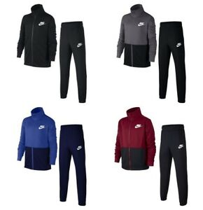 dd88fea440ba Nike Boys Tracksuit Full Zip Kids Jogging Bottoms Sports Training ...