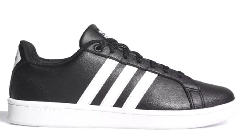 Adidas Para Hombre Essentials Cloudfoam Advantage zapatilla de deporte B74264 Negro Hombre Talla 10M Eu44