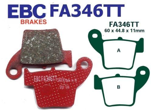 EBC Bremsbeläge FA346TT Hinterachse passt in Honda CRF 450 R8//R9//RA 08-10